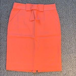 Jcrew coral pencil skirt